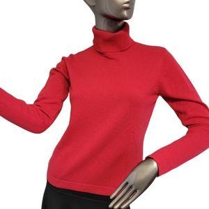 Holt Renfrew 100% Cashmere Red Sweater Sz Small